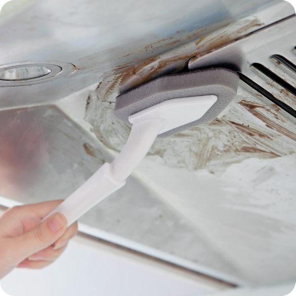 帶手柄納米金剛砂魔力海綿擦清潔去污除垢清潔刷刷鍋底除垢魔力擦