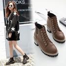粗跟短靴-歐美時尚街頭復古女馬丁靴2色73is10【時尚巴黎】