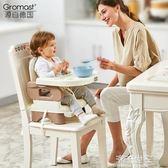 Gromast便攜式寶寶餐椅兒童餐桌椅子多功能嬰兒吃飯可折疊座椅MBS『潮流世家』
