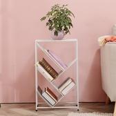 鐵藝多層簡易書架收納置物架簡約現代落地兒童學生書櫃樹形書架子 aj7263『黑色妹妹』