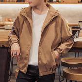 飛行夾克 青年夾克男士韓版修身印花外套潮流帥氣薄款外衣休閒棒球服 米蘭街頭