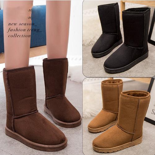 中筒雪靴 暖冬必備百搭加厚保暖毛絨雪靴 59鞋廊