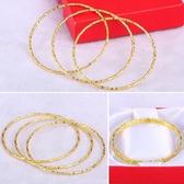 仿真金條 黃金首飾鏈金鐲子仿真假鍍越南沙金手鐲