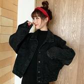 秋季韓版新款寬鬆學生牛仔外套法式短款百搭工裝夾克女士上衣 遇見初晴