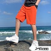 冰絲短褲 2021夏季新款工廠直營休閑短褲男士寬松多袋工裝大碼沙灘褲清涼潮 酷男