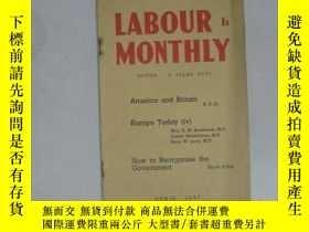 二手書博民逛書店LABOUR罕見MONTHLY (APRIL 1947)(勞工月刊) 32開平裝Y3119 R PALME D