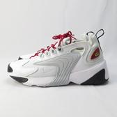 NIKE ZOOM 2K 休閒鞋 情侶鞋 女款 有男碼 AO0354107 白灰x紅鞋帶 【iSport愛運動 】