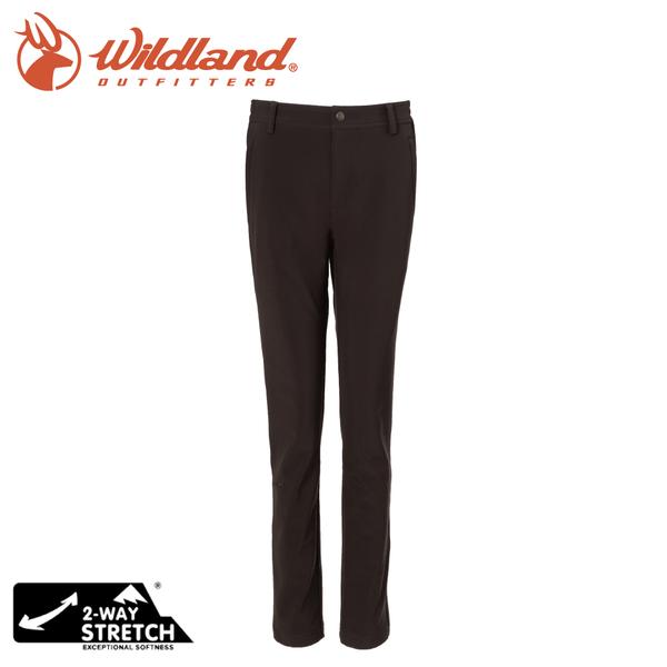 【Wildland 荒野 女 SOFTSHELL窄直筒合身褲《松果褐》】0A72305/雪褲/運動褲/休閒褲/登山