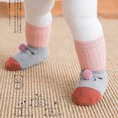 秋冬純棉地板襪寶寶硅膠防滑厚軟底保暖室內嬰兒學步襪襪套0-3歲