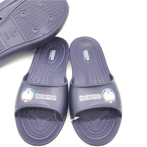 【蘿亞家居】DORAEMON哆啦A夢大人小孩室內室外浴室萬用抗滑EVA超輕拖鞋(藍色一雙)
