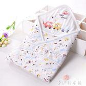 單層純棉包巾嬰兒襁褓抱被薄款新生兒包被寶寶包布浴巾兩用  伊鞋本铺