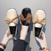 E家人 娃娃鞋 復古 小皮鞋  百搭 平底 原宿 單鞋