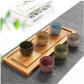 陶瓷茶具紫砂冰裂釉紋禮盒套裝