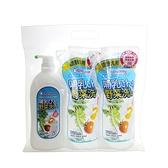 chuchu 啾啾 蔬果奶瓶清潔劑+補充包(2包)