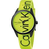 Calvin Klein CK Color 時尚運動腕錶–螢光黃/40mm K5E51TFY