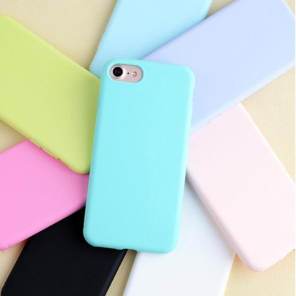 【SZ23】iPhone 7/8 手機殼 彩色糖果 實色 帶掛繩孔 iphone 6/7 plus/6s plus  全包邊 TPU 軟殼