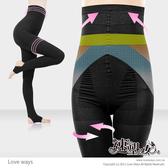 速塑女人 300D 平腹提臀雙機能踩腳褲(黑)【美日多多】