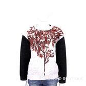 MAX MARA-SPORTMAX 黑x白色拼接流蘇綴飾長袖上衣 1540835-37