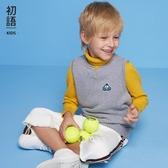 兒童針織背心 【童裝】初語童裝毛衣針織衫無袖背心男童女童裝寶寶上衣 小宅女