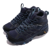 Merrell 戶外鞋 Moab FST 2 Mid GTX 藍 黑 Gore-Tex 健走 登山鞋 女鞋【ACS】 ML034240