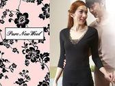 【大盤大】 (W538) 澳洲美麗諾 100%純羊毛 女 防縮 純羊毛衛生衣  黑色羊毛內衣 V領 蕾絲內衣