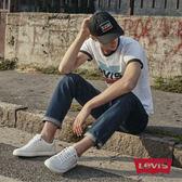[買1送1]Levis 男款 511 低腰修身窄管牛仔長褲 / 深藍刷白