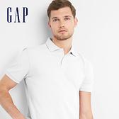 Gap男裝 純色短袖POLO衫 基本款短袖上衣男223627-米白色