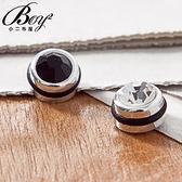 型男單隻設計潮流鑽石磁鐵式耳環【PK210】