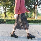 復古小皮鞋女英倫學院學生雕花繫帶低筒馬丁鞋單鞋平底百搭韓版鞋 免運 生活主義