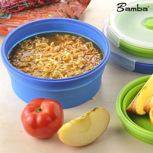 【Bamba】矽膠摺疊保鮮餐盒(泡麵碗)