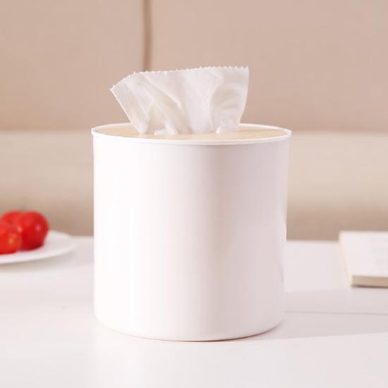 紙巾盒 橡木蓋 收納盒 衛生紙 木蓋 塑料蓋 桌面收納盒 北歐風 摩登簡約 面紙盒【A011-1】慢思行