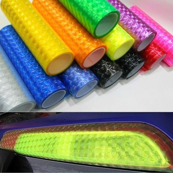 3D貓眼大燈改色膜變色尾燈透光貼膜3D變色燈膜 叮噹百貨