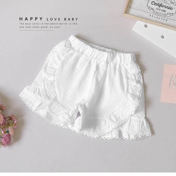 純棉 氣質蕾絲白短褲 春夏童裝 女童短褲 女童褲裙 女童寬褲 女童褲子
