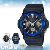 CASIO 卡西歐 手錶專賣店 國隆 G-SHOCK GAS-100B-1A2 太陽能雙顯男錶 樹脂錶帶 黑 GAS-100B