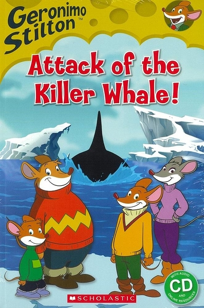 Scholastic Popcorn Readers Level 2: Geronimo Stilton: Attack of the Killer Whale with CD