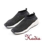 2017秋冬新品 kadia.樂活輕量舒適休閒鞋(7522-95黑)