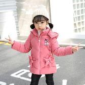 2女童棉襖外套新款韓版3中小兒童冬裝6加厚寶寶中長款羽絨棉衣7歲