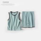 兒童睡衣 家居服純棉薄款寶寶空調服夏季小孩背心套裝 莎瓦迪卡