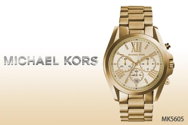 【時間道】【MICHAEL KORS】MICHAEL KORS 現代輕旅行腕錶(大)/全金配色 (MK5605)免運費