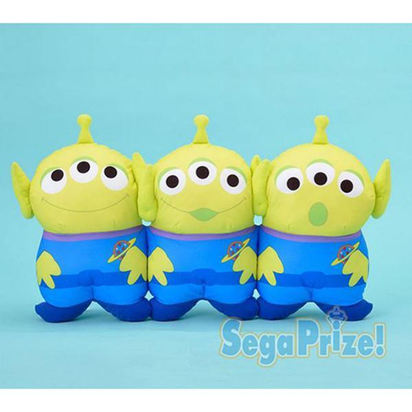 日本SEGA PLAZA 景品 玩具總動員 三眼怪三胞胎抱枕/靠墊_SE29115