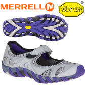 【MERRELL 美國 女款 WATERPRO PANDI 〈淺灰/紫〉】ML03082/休閒鞋/登山鞋/運動鞋★滿額送