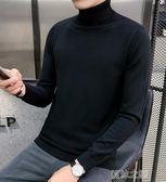 毛衣男-秋冬季新款男士高領毛衣韓版潮流半高領毛線針織打底 夏沫之戀