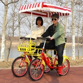 自行車 歐派帝雙人自行車情侶觀光自行車四輪多人兩人騎一體輪自行聯排車 晟鵬國際貿易