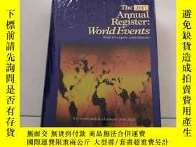 二手書博民逛書店The2017罕見Annual Register:World E