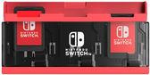 HORI NS推開式 六入卡盒 紅色