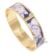 茱麗葉精品【專櫃款 全新現貨】 COACH 6007 滿版花卉造型窄版手環.紫/金