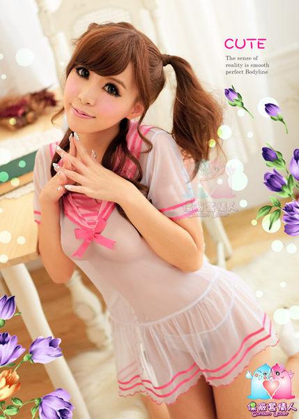 【愛愛雲端】甜蜜學園!柔紗二件式睡襯裙 R8NA11030122