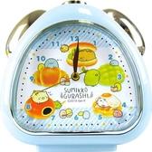 〔小禮堂〕角落生物 三角形鬧鐘《藍棕.麵包》桌鐘.時鐘 4548626-11222