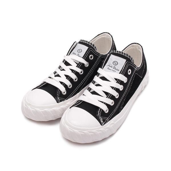 ARNOR 韓版帆布餅乾鞋 黑 ARWC92300 女鞋 鞋全家福