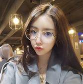 老闆訂錯價!!!韓國復古眼鏡框男款潮正韓圓形眼鏡架女全框金屬平光鏡【諾克男神】